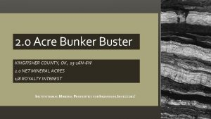 2 0 Acre Bunker Buster KINGFISHER COUNTY OK