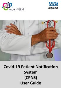 Covid19 Patient Notification System CPNS User Guide Registration