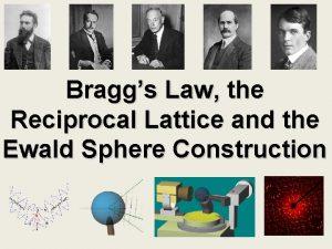 Braggs Law the Reciprocal Lattice and the Ewald
