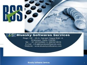 Bluesky Softwares Services 1 Product Overview COMPANY SECRETARIAL