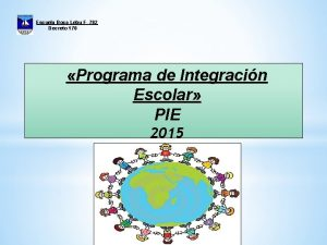 Escuela Boca Lebu F 782 Decreto 170 Programa
