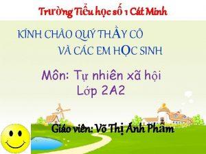 Trng Tiu hc s 1 Ct Minh KNH