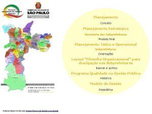 Planejamento Conceito Planejamento Estratgico Secretaria das Subprefeituras Produto