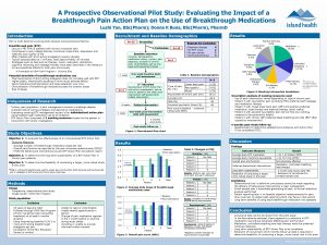 A Prospective Observational Pilot Study Evaluating the Impact