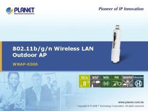 802 11 bgn Wireless LAN Outdoor AP WNAP6306