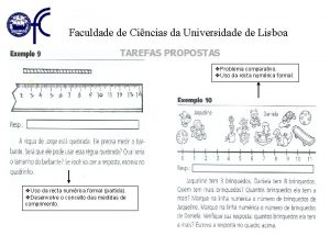 Faculdade de Cincias da Universidade de Lisboa TAREFAS