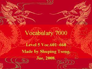 Vocabulary 7000 Level 5 Voc 601660 Made by