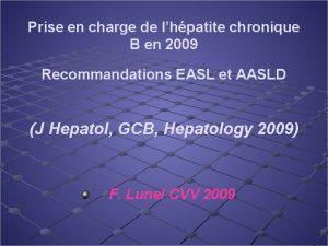 Prise en charge de lhpatite chronique B en
