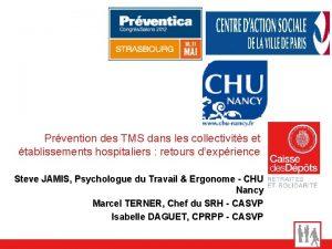 Prvention des TMS dans les collectivits et tablissements