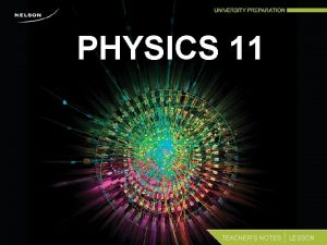 PHYSICS 11 TEACHERS NOTES LESSON Distance and Displacement