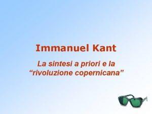 Immanuel Kant La sintesi a priori e la
