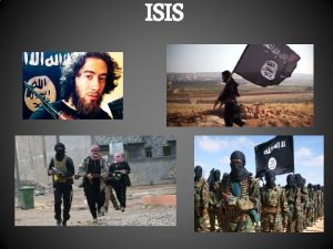 ISIS WHAT IS ISIS ISIS IS A PRODUCT