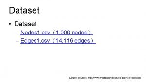 Dataset Dataset Nodes 1 csv1 000 nodes Edges