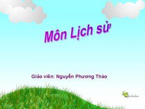 Gio vin Nguyn Phng Tho Kim tra bi