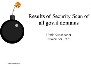 Results of Security Scan of all gov il