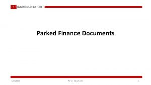 Parked Finance Documents 6132018 Parked Documents 1 Parked