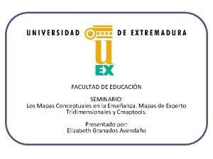 FACULTAD DE EDUCACIN SEMINARIO Los Mapas Conceptuales en