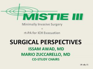 Minimally Invasive Surgery rtPA for ICH Evacuation SURGICAL