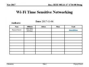 Nov 2017 doc IEEE 802 11 17 1734