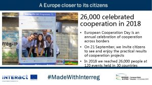 26 000 celebrated cooperation in 2018 European Cooperation