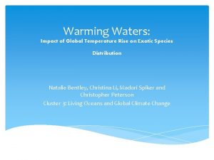 Warming Waters Impact of Global Temperature Rise on