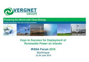 Powering the World with Clean Energy Reliable Renewables