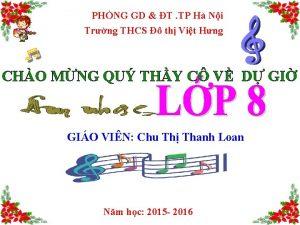 PHNG GD T TP H Ni Trng THCS