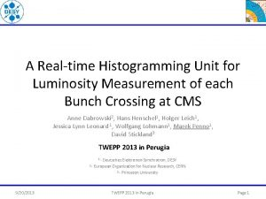 A Realtime Histogramming Unit for Luminosity Measurement of