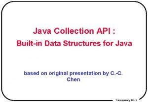 Java Collection API Builtin Data Structures for Java