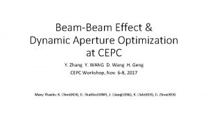 BeamBeam Effect Dynamic Aperture Optimization at CEPC Y