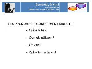 Elemental s clar Curs Elemental B 1 Eullia