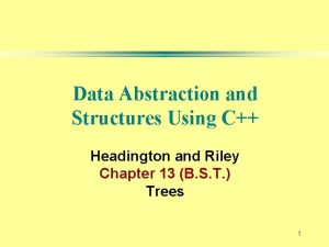 Data Abstraction and Structures Using C Headington and