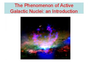 The Phenomenon of Active Galactic Nuclei an Introduction