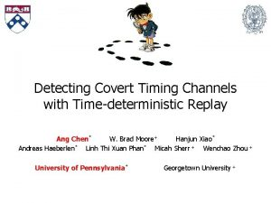 Detecting Covert Timing Channels with Timedeterministic Replay Ang