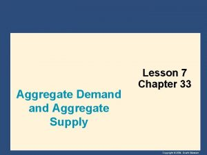 Aggregate Demand Aggregate Supply Lesson 7 Chapter 33