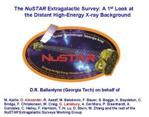 The Nu STAR Extragalactic Survey A 1 st