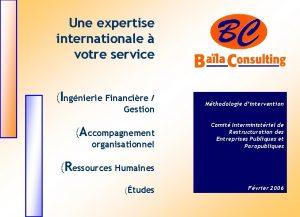 Une expertise internationale votre service Ingnierie Financire Gestion