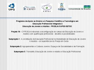 Programa de Apoio ao Ensino e Pesquisa Cientfica
