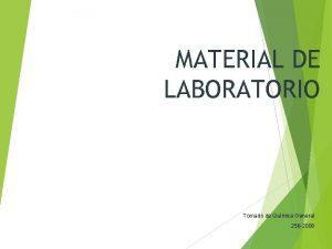 MATERIAL DE LABORATORIO Tomado de Qumica General 256