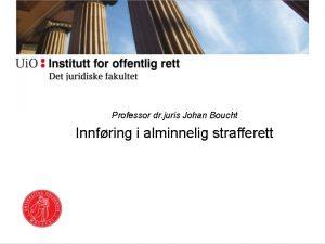 Professor dr juris Johan Boucht Innfring i alminnelig