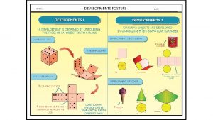NAME DEVELOPMENTS POSTERS DATE DICE NAME DATE SURFACE