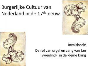 Burgerlijke Cultuur van de Nederland in de 17