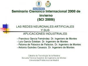 Seminario Cientfico Internacional 2008 de invierno SCI 2008