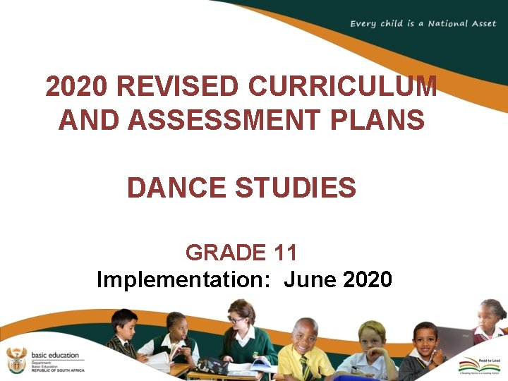 2020 REVISED CURRICULUM AND ASSESSMENT PLANS DANCE STUDIES