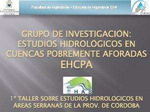 Facultad de Ingeniera Escuela de Ingeniera Civil GRUPO