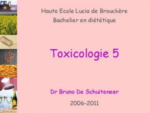 Haute Ecole Lucia de Brouckre Bachelier en dittique