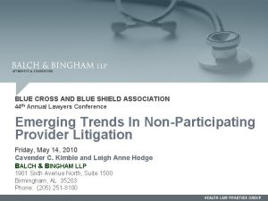 BLUE CROSS AND BLUE SHIELD ASSOCIATION 44 th