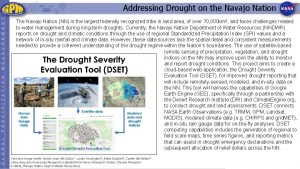 Addressing Drought on the Navajo Nation The Navajo