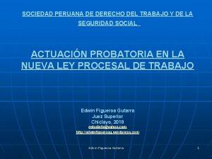 SOCIEDAD PERUANA DE DERECHO DEL TRABAJO Y DE