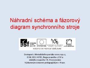 Nhradn schma a fzorov diagram synchronnho stroje Dostupn